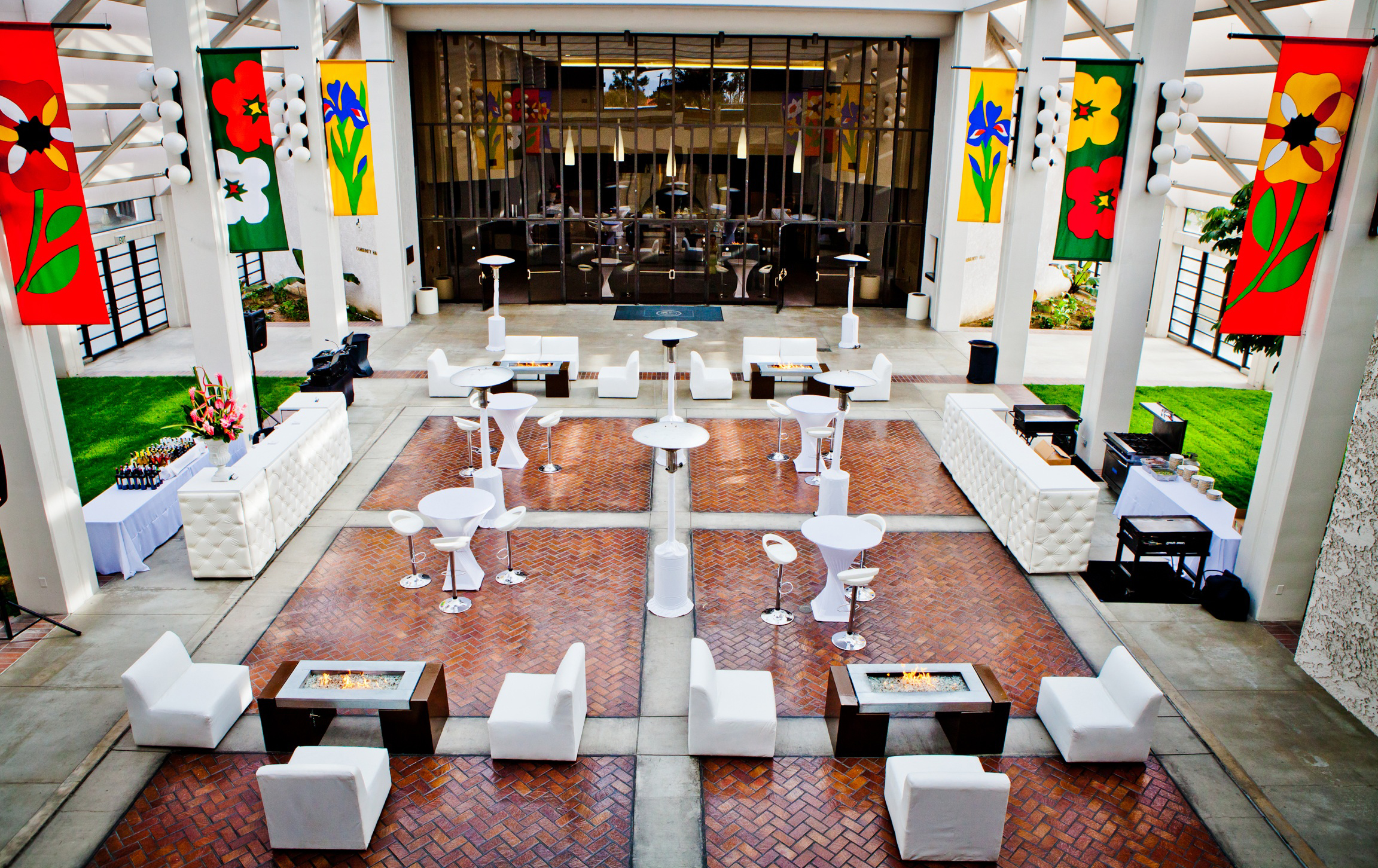 photo of Carson Center atrium set up in the daytime